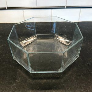 Vintage Arcoroc France Octime Clear Bowl 9""